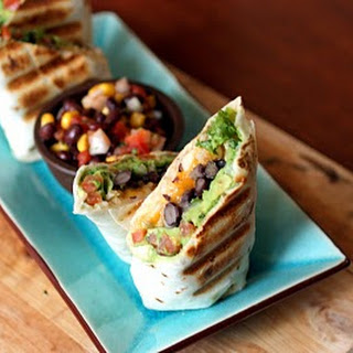 Black Bean and Guac Burritos.
