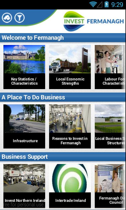 Invest Fermanagh - screenshot