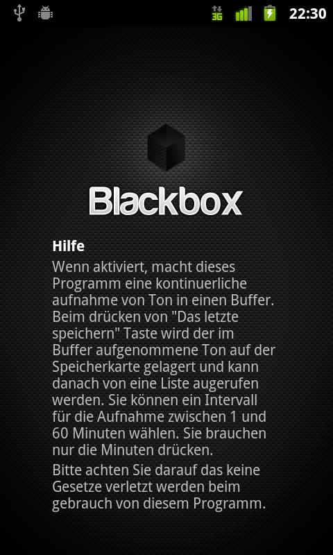 Blackbox - screenshot