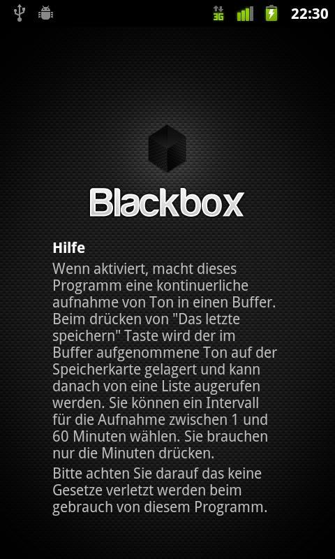 Blackbox - screenshot