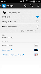 TVmatchen.nu - sport på TV - screenshot thumbnail