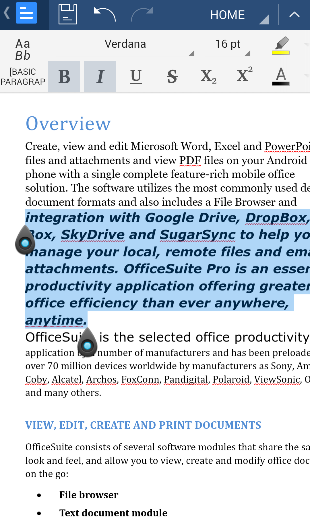 Download OfficeSuite Font Pack (Android) reviews at Android Quality ...