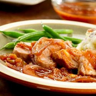Orange Pork Tenderloins with Caramelized Onions