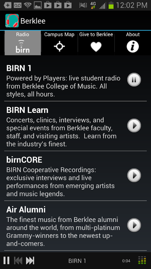 BerkleeMobile - screenshot
