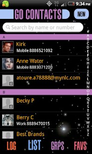 Enterprise GOContacts EX Theme - screenshot thumbnail