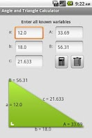Screenshot of Angle and Triangle Calculator