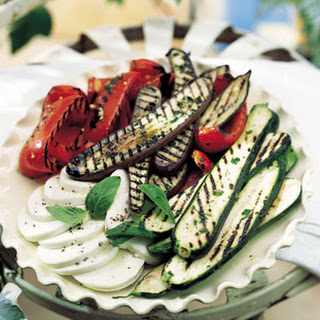Grilled Marinated Vegetables with Fresh Mozzarella Recipe
