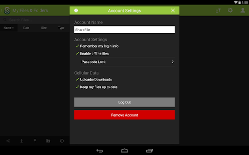 ShareFile Mobile - screenshot thumbnail