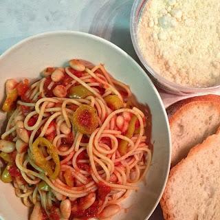 Spaghetti and Cannellini Marinara Alla Momma