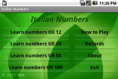 Learn Italian Numbers- screenshot