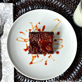Fudge Brownies With Caramel Swirl