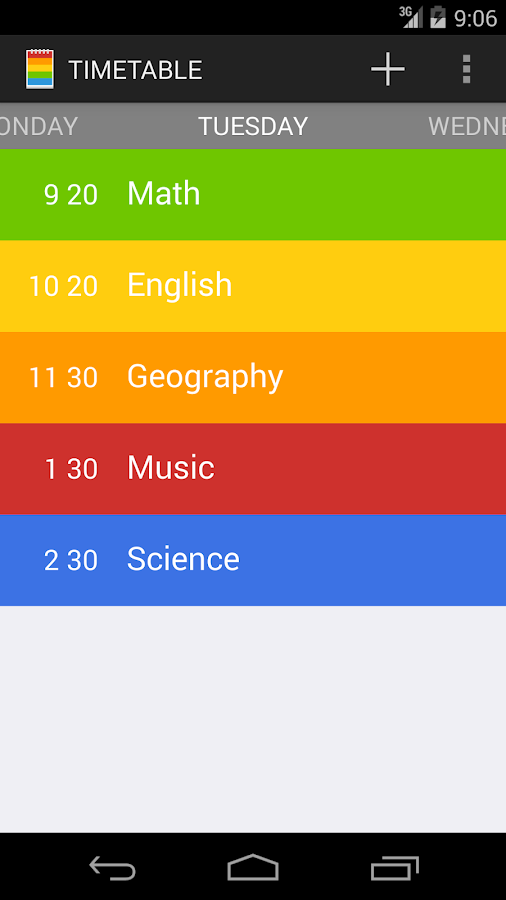 Class Timetable Android Apps on Google Play – Class Timetable
