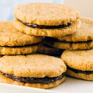 Gluten Free Sunbutter Chocolate Sandwich Cookies