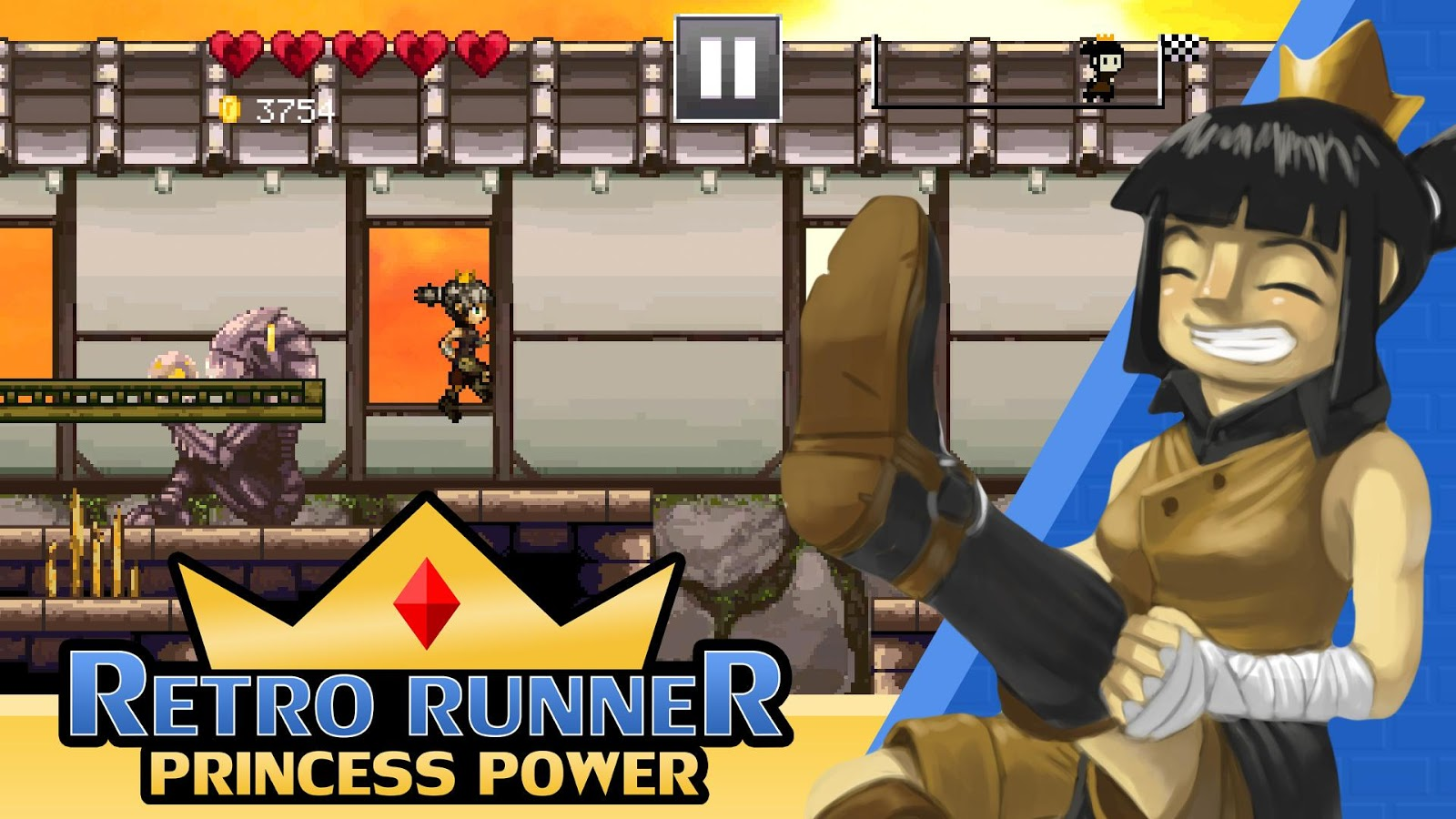 Retro Runner: Princess Power- screenshot