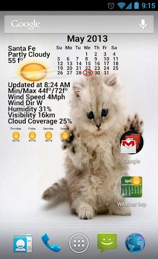 Weather Calendar Wallpaper