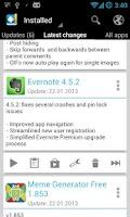 Screenshot of Changelog Droid