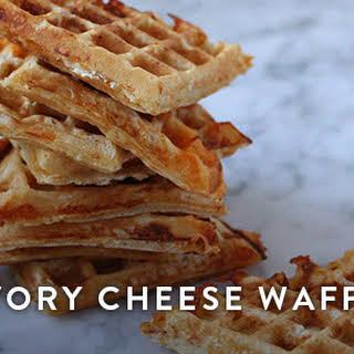 Savory Cheese Waffles.
