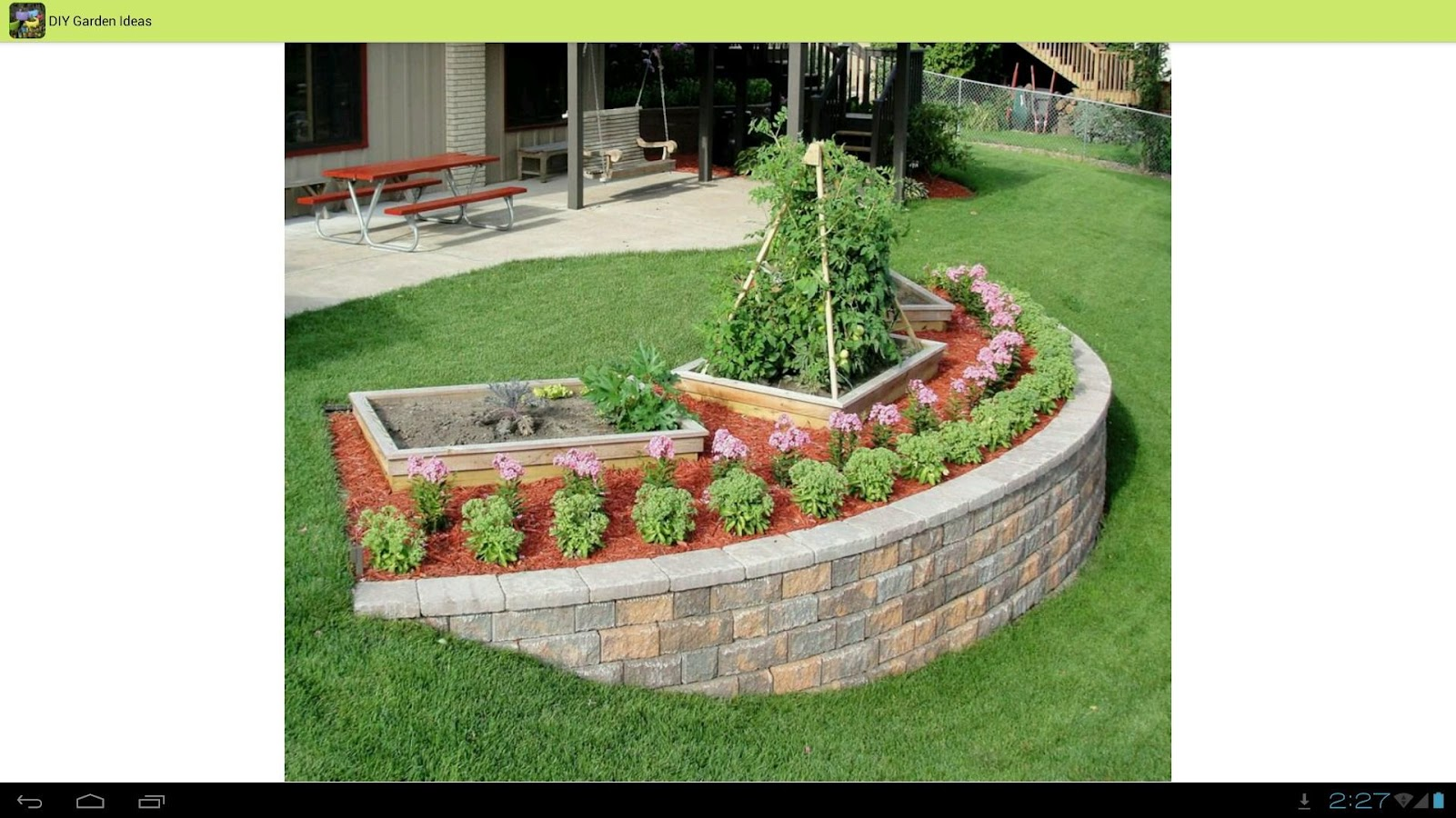 Diy garden ideas android apps on google play for Diy home design ideas landscape backyard