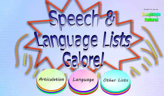 Speech & Language Lists Galore- screenshot thumbnail