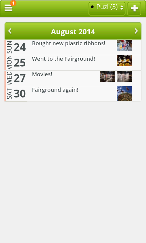 LifePuzl Calendar & Diary App- screenshot