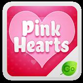 GO Keyboard Pink Hearts
