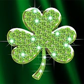 Shamrocks Diamond Wallpaper