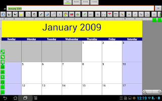 Screenshot of e-Droid-Cell Light Spreadsheet