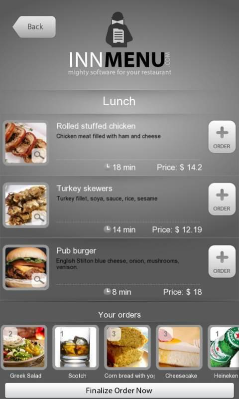 Innmenu free restaurant menu applications android sur