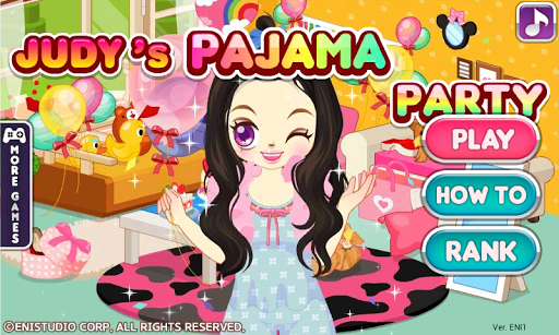 Judy's Pajama Party-Dress Up