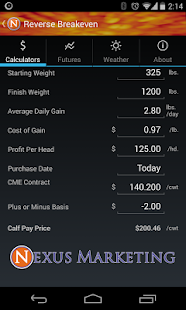 Nexus Cattle Calculator- screenshot thumbnail