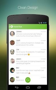 HoverChat Free (Ninja SMS) Screenshot 1