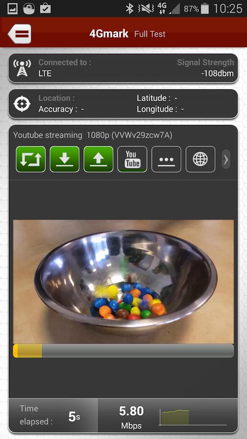 4Gmark (3G / 4G speed test) - screenshot