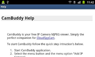 Screenshot of Cam Buddy