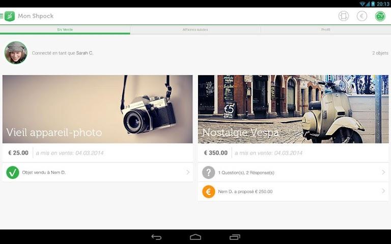 android Shpock Flohmarkt Kleinanzeigen Screenshot 4