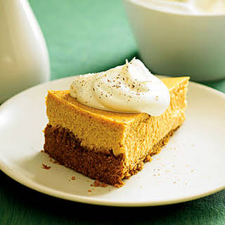 Roasted Sweet-Potato Cheesecake with Maple Cream.