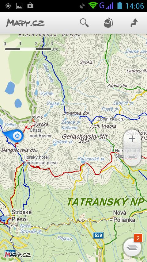 Mapy.cz - screenshot
