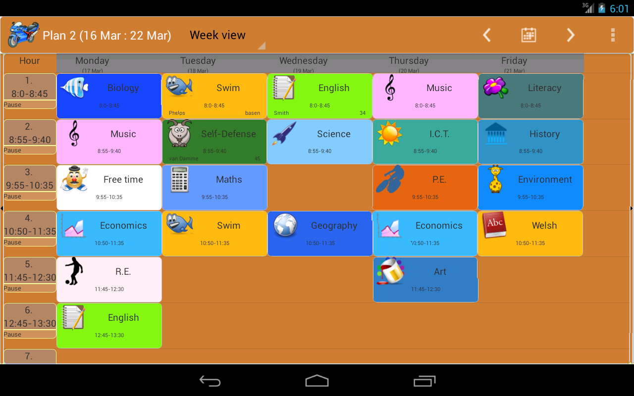 Family Timetable Android Apps On Google Play