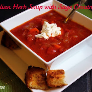 Italian Herb Soup with Sage Croutons