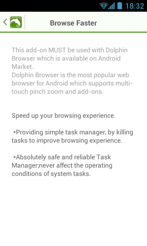 Browse Faster for Dolphin- screenshot