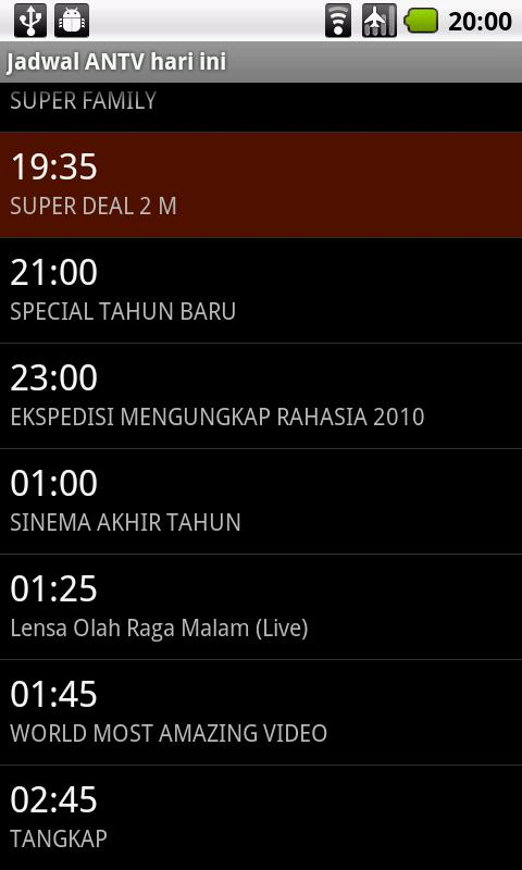 Jadwal TV - screenshot