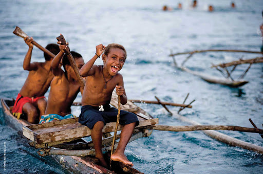 Silversea-Silver-Discoverer-Papua-New-Guinea-kids-2 - Visit Madang, Papua New Guinea, with Silver Discoverer and spend time with the locals.