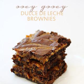 Ooey Gooey Dulce de Leche Brownies