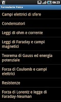 Screenshot of Physics Formulas PRO