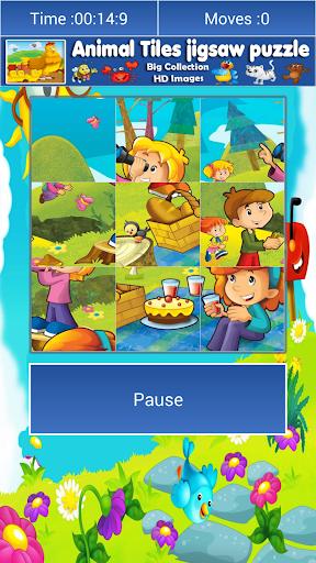 玩免費解謎APP|下載キッズの漫画のジグソーパズルタイルパズル app不用錢|硬是要APP