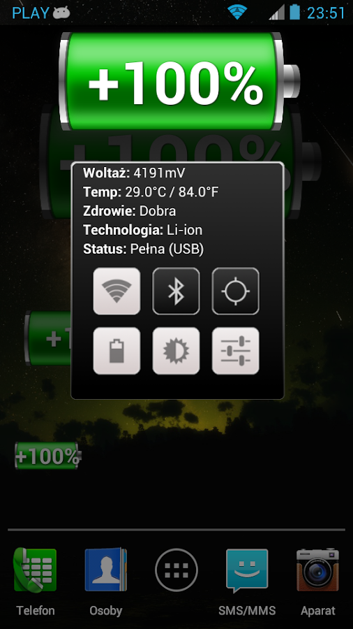 Battery Widget Classic - screenshot