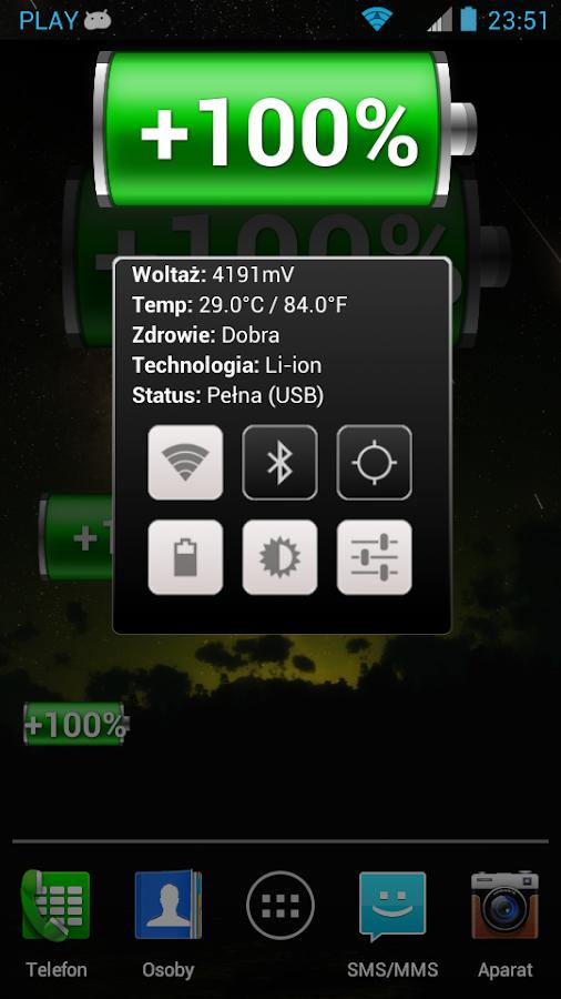 Battery Widget Classic - screenshot