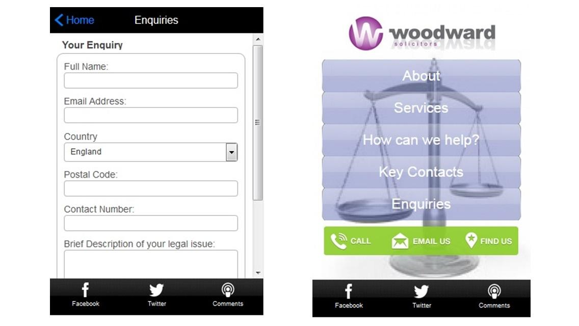 Woodward Solicitors- screenshot