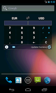 Currency Calculator Widget - screenshot thumbnail
