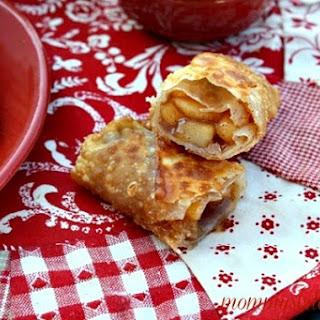 Apple Pie Egg Rolls W/Caramel Dipping Sauce.