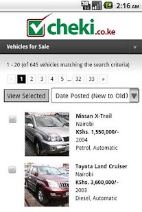 cheki.co.ke Kenyas #1 Car Site - screenshot thumbnail